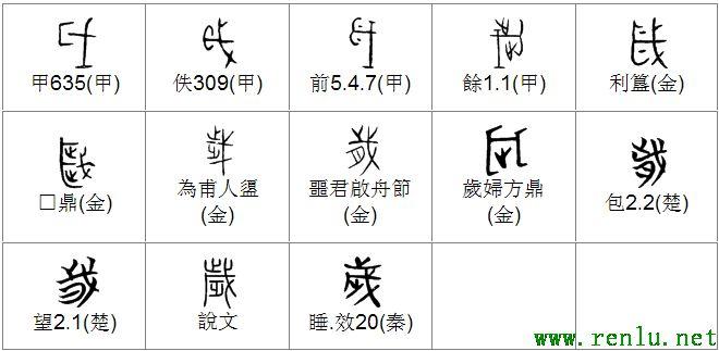 的甲骨文象形文字金文篆文 字典词组含义解释图片